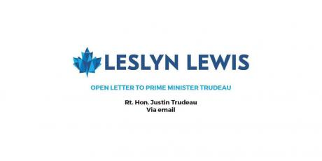 Leslyn Lewis to Justin Trudeau